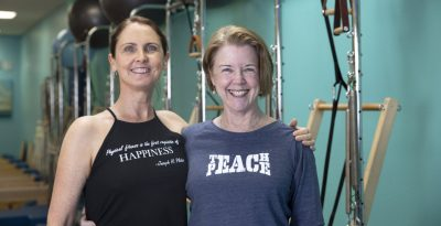 Rachel Taylor Segel and Amy Taylor Alpers at The Pilates Center, Boulder