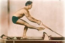 Joe Pilates on reformer - The Pilates Center